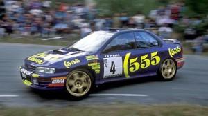 Carlos Sainz logró 4 victorias al mando del Subaru Impreza