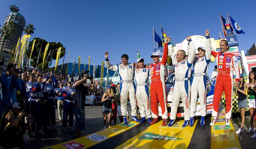Este fue el podio del pasado Rally Islas Canarias