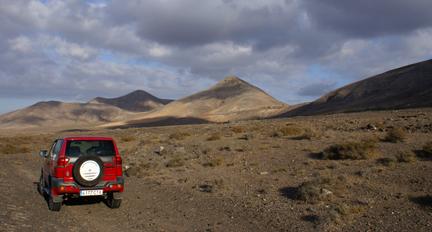 La orografía de Fuerteventura es ideal para una Baja.