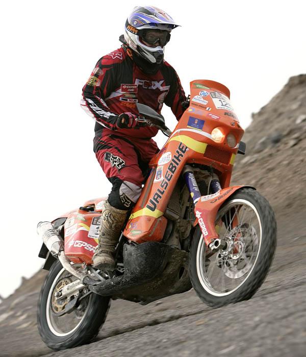 El piloto canario esta deseoso por empezar el Dakar Argentina-Chile 2010