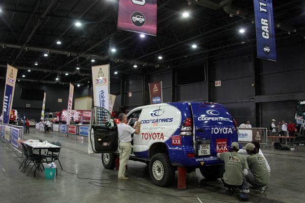 Al igual que el resto de competidores el Toyotacoopertires tuvo que pasar las verificaciones