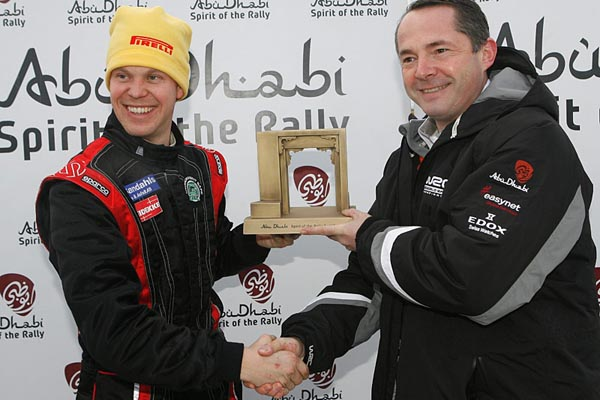 "Per Gunnar Andersson recibió el premio ""Spirit of the rallye"""