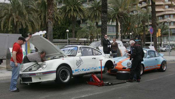 El Porsche 911 RS de An Der Heiden, actual campeón de la cita balear, ya esta en Mallorca