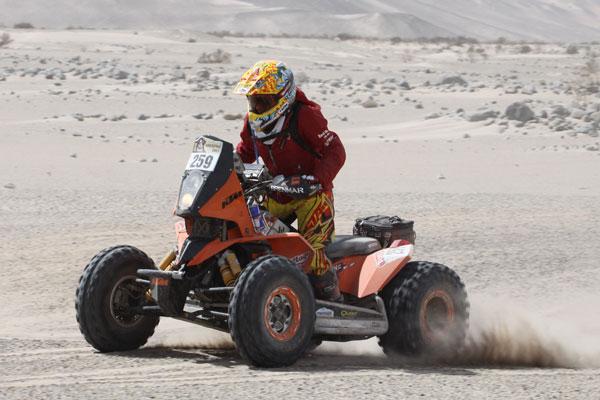 Camelia Liparoti en el último Dakar (Foto: Pep Cifre)