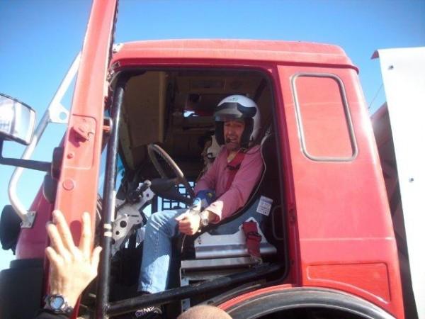Sabater estuvo probando el Mercedes en Teruel