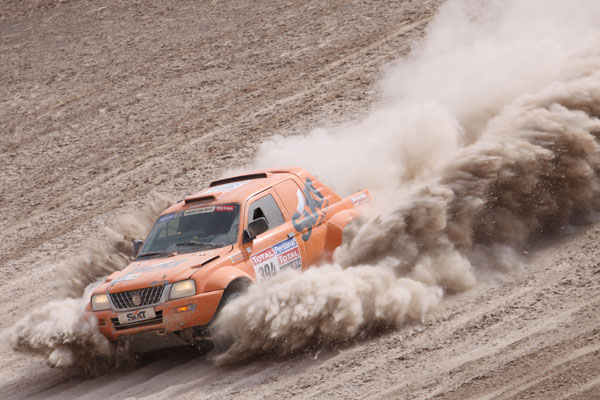 Esto es lo que encontraron los equipos de camino a Iquique (Foto: Pep Cifre)