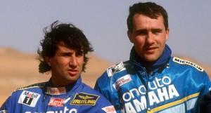 Neveu y Peterhansel a principios de los 90