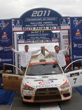 Font y Julia en el podio.