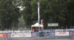 La lluvia no ha parado la actividad en el estadio Olímpico