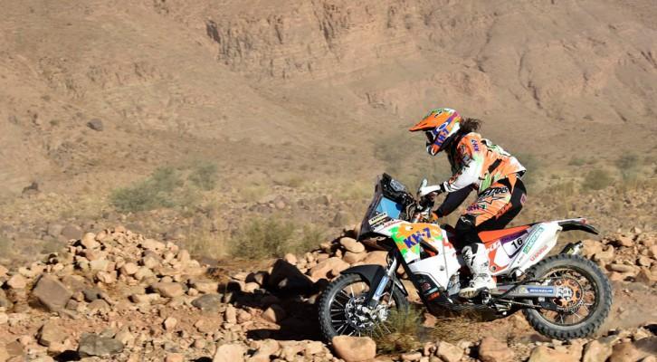 Laia Sanz supera con muy buena nota su primer gran test en Marruecos