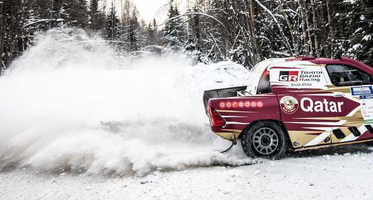 Nasser Al-Attiyah se corona sobre la nieve de Karelia